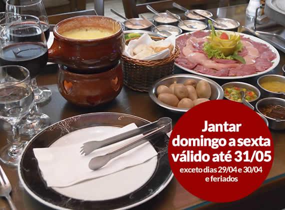 Jantar de Domingo a sexta - Sequencia de Fondue na Pedra para 1 pessoa de R$79,00 por apenas R$44,90