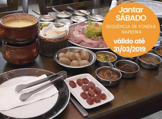 Jantar todos os Sabados - Sequencia de Fondue na Pedra para 2 pessoas de R$158,00 por apenas R$119,80