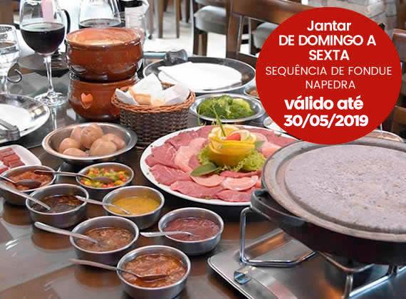 Jantar de Domingo a sexta - Sequencia de Fondue na Pedra para 1 pessoa de R$79,00 por apenas R$49,90