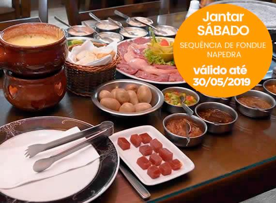 Jantar todos os Sabados - Sequencia de Fondue na Pedra para 1 pessoa de R$79,00 por apenas R$59,90